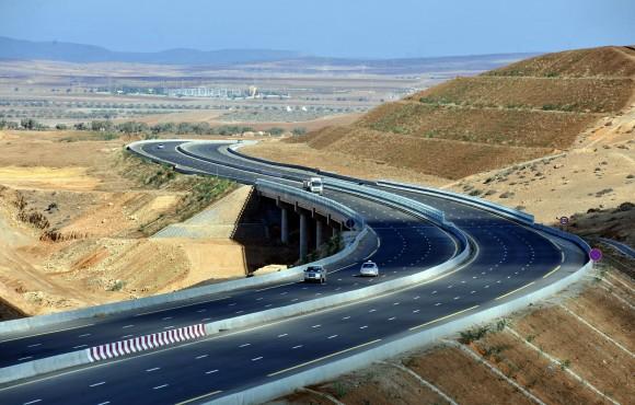 The East-West highway in Algeria